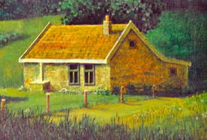 Onbekende schilder: Huisje Winkelmans, detail