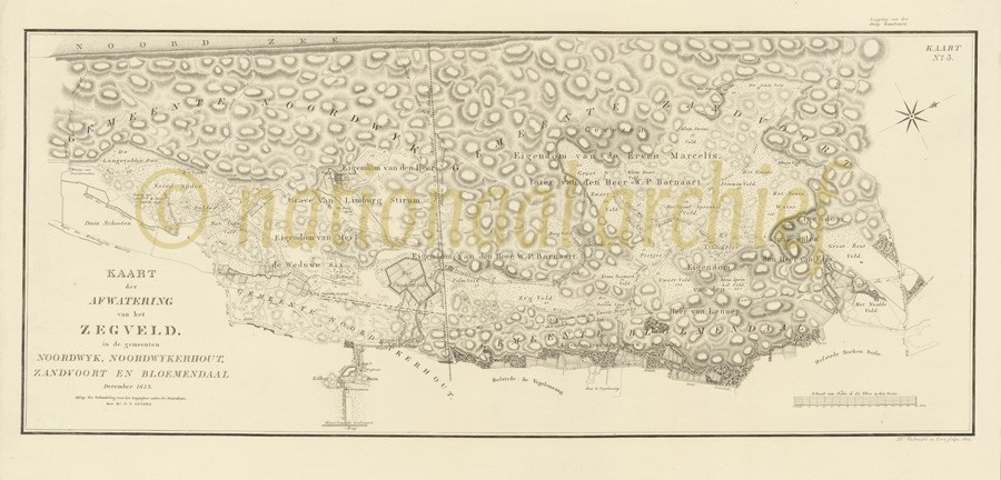 nationaal archief kaart gevers 1823 4.ZHPB4_69_3 Amsterdamse Waterleidingsduinen