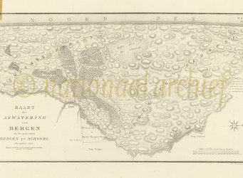 Nationaal Archief kaart van Gevers Bergen en Schoorl
