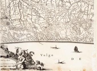 Westfries Archief kaart van J.Dou-1660 - Castricum tot Bergen