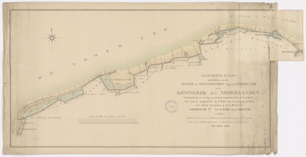 Duinkaart-1828-Duinenenmensen_nl-Gevers- NL-HaNA_FINAN_10-Zeeuws-Vlaanderen