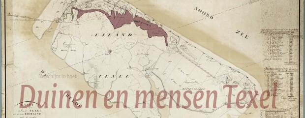 Kaart van mienten met pachters op Texel 1876-1885