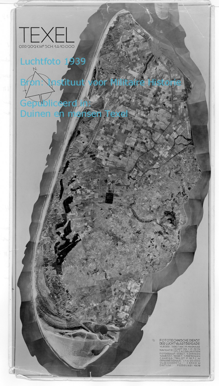 Luchtfoto van Texel 1939 bron Instituut voor militaire historie
