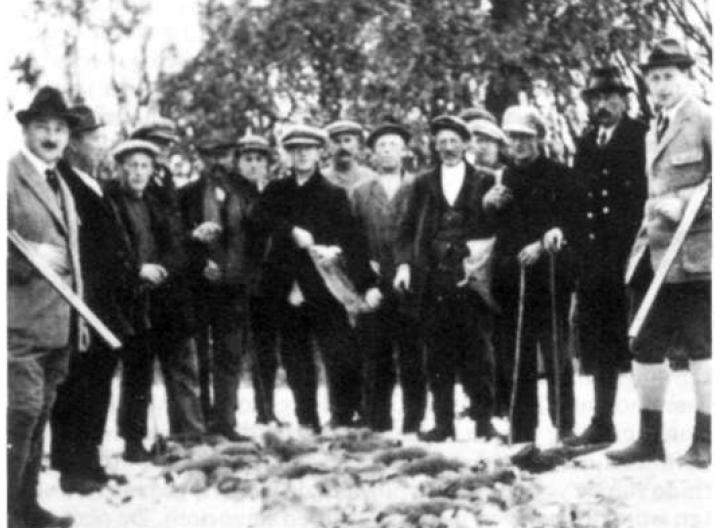 Jachtpartij ca 1930