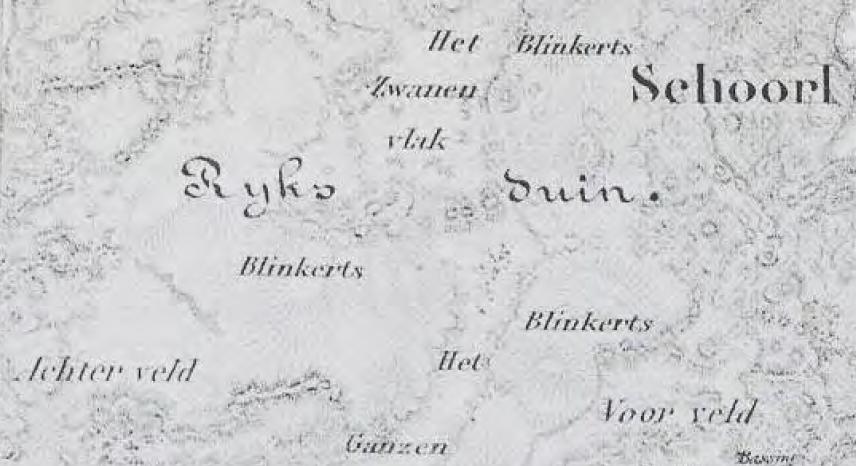 detail kaart Schoorl ca 1890