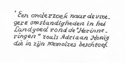 Handschrift Leijduin van A. Honig, 2002