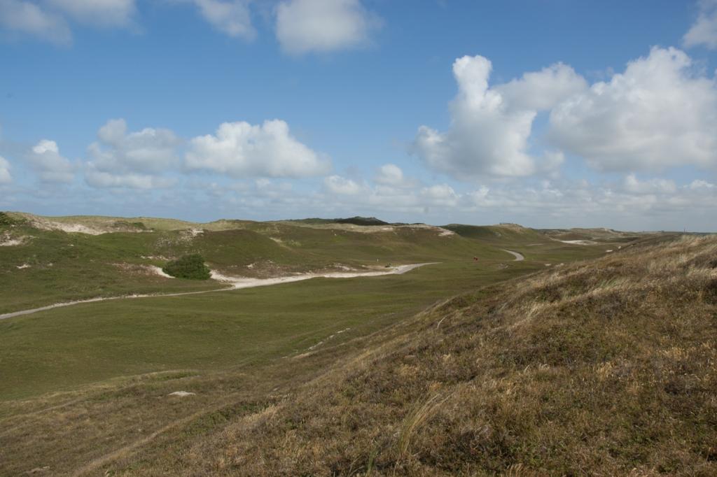 Duinroosvallei Noordduinen voor de vergrassing toesloeg. Foto Rolf Roos
