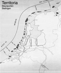Atlantikwall-steunpunten in Nederland. Bron: Rolf, Bunkers in Nederland