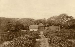 901834 cf boerderij papenberg met huisje =wc!! er voor waar patienten zich daar moesten verkleden rica glorie-hopman; voor boerderij leden fam stuifbergen ca 1920