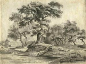 Anonieme prent van het Haagse Bos uit 1850 naar J. van der Haagen, ca. 1615-1669 (Beeldbank Haags Gemeentearchief)