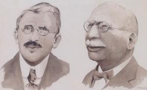 Eli Heimans (links) en Jac.P. Thijsse (rechts)