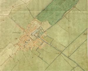 Haagse Bos. Stadsplattegrond van Den Haag van J. van Deventer, ca. 1560 (www.gahetna.nl)