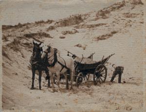 Zandgat bij Haamstede 1910 Foto F.F.G. Bins. Collectie W.P. de Vrieze.