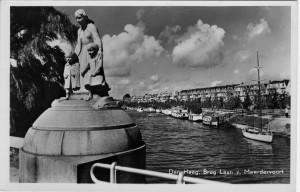 Verversingskanaal gezien vanaf de Conradbrug (1950). Collectie F. Beekman