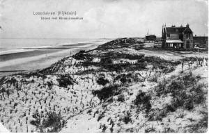 Oudste bebouwing op de zeereep van Kijkduin (1909). Uitgave H. van Noort, Loosduinen. Collectie F. Beekman