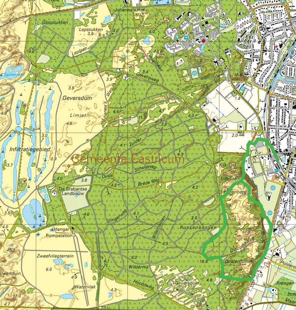 topografisch papenberg 1825-heden 3 lagen