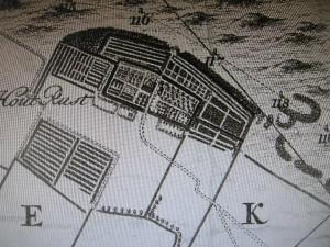 Houtrust op de kaart van Cruquius uit 1712
