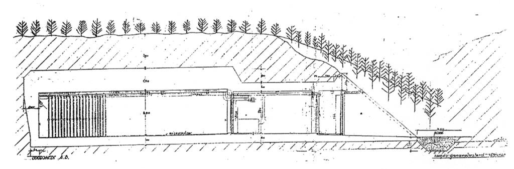 Bouwtekening kunstkelder Castricum