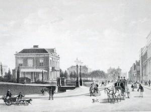 Zeestraat 1860  De gegraven Beek loopt dwars door de stad