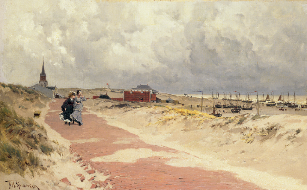 Frederik Hendrik Kaemmerer, Wandelende dames bij Scheveningen