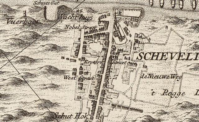 1712 fragment van de kaart van Delfland van Cruquius, gestuurd door Kees Stal