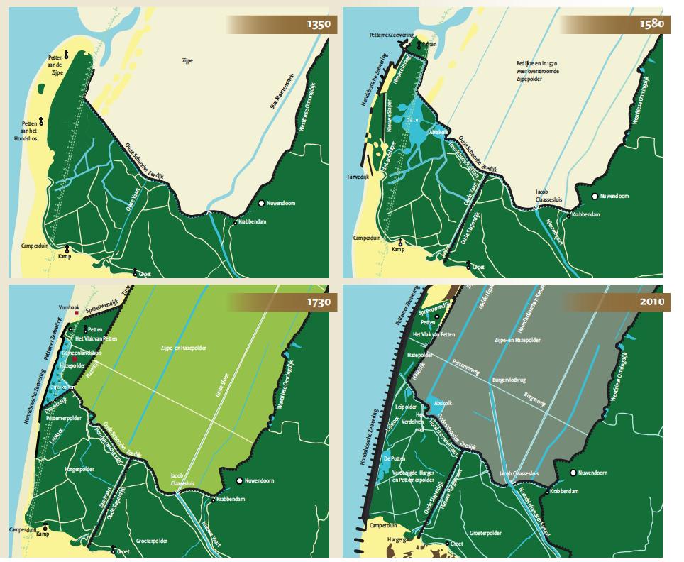 Reconstructie duinen en dijken Petten tot 2010 uit Duinen en mensen Noordkop en Zwanenwater (2011)