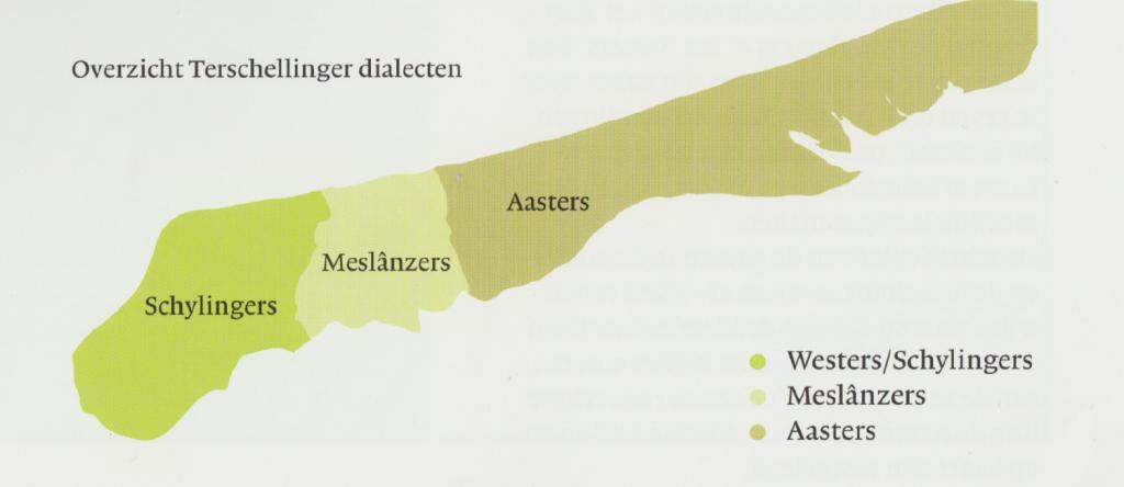 Dialecten Terschelling (Arjen Kok, 2007 pag 11.)