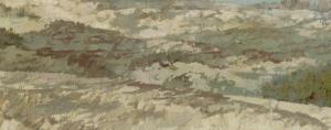 Detail met bruintinten van uitgebloeide struikheide