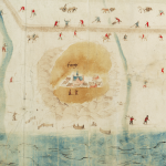 Jan van Scorel: kaart van Kop van Noord-Holland (ca. 1552)