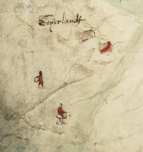 NL-HaNA_4.VTH_2486 Jan van Scorel ca 1560 Detail Eyerlant met figuren met manden om eieren in te verzamelen