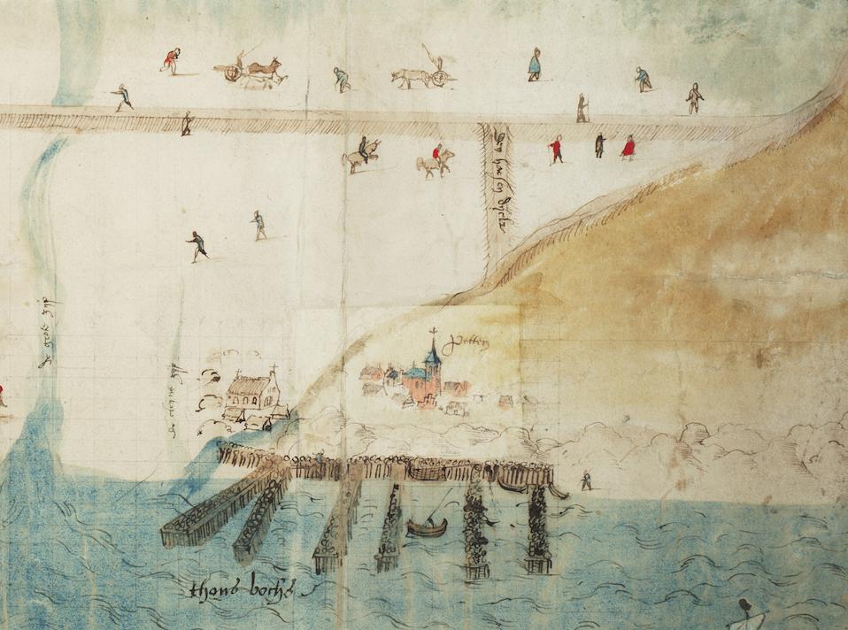 Jan van Scorel ca 1560 detail Petten met kustversterking