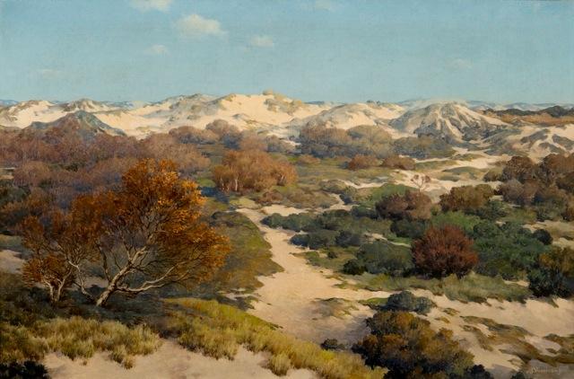 Het landschap van De Beer. Schilderij van Jan Voerman jr. (1890-1976)