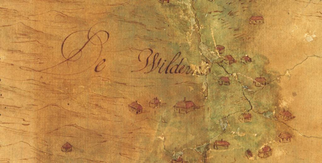 kaart heemskerk duin 1662 detail wildernis