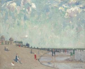 Fig. 1. J. Michaux (1876-1956) Op het strand na de regen.