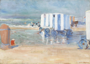 Fig. 5. H.J. Kuijten (1883-1952) Strand met koetsjes, private collectie.