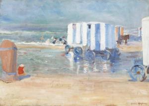 Fig. 5. H.J. Kuijten (1883-1952) Strand met koetsjes, private collectie.