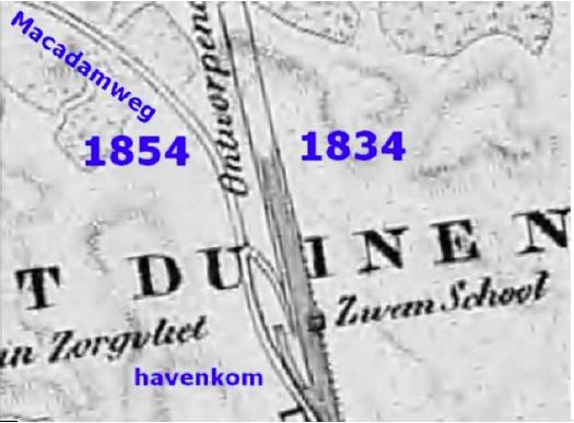 In 1834 stopte het kanaal midden in de duinen. Bijna op het eind werd een zwemschool ingericht.
