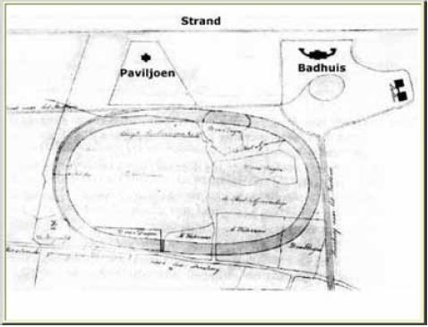 1846, naar aanleiding van de opening van de Scheveningse renbaan is een kadastrale kaart gemaakt. In de linkeronderhoek staat molen De Vriendschap ingetekend. De onderste weg is de toenmalige Rijslag, de huidige Stevinstraat.