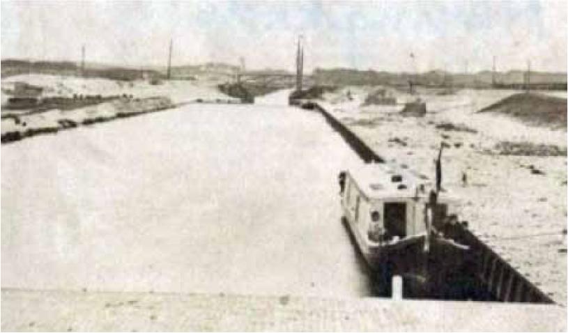 De binnenhaven van Scheveningen in 1862